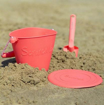 Scrunch Bucket and Spade - Bright Pink