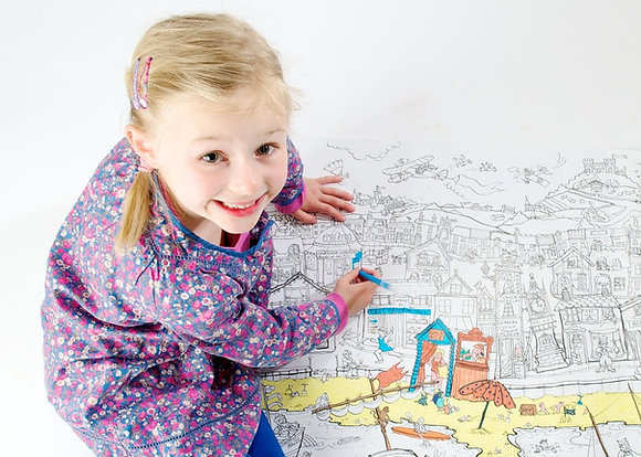 Really Giant Colouring Poster - Trip to the Seaside