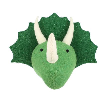 Fiona Walker Animal Head - Triceratops (mini)