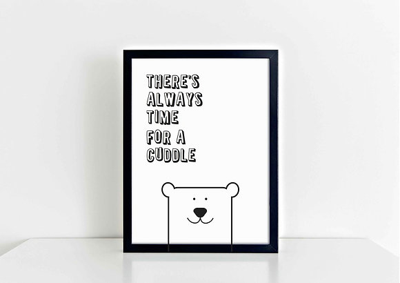 Time for a Cuddle - A5 Print