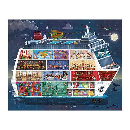 Janod Jigsaw Puzzle- Cruise Ship Duo   6-9yrs