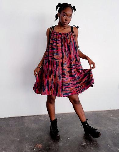 Glitch Stripe Dress