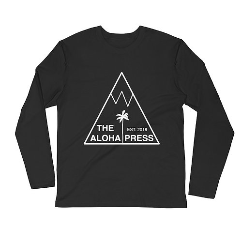 The Aloha Press Long Sleeve Fitted Crew T-Shirt