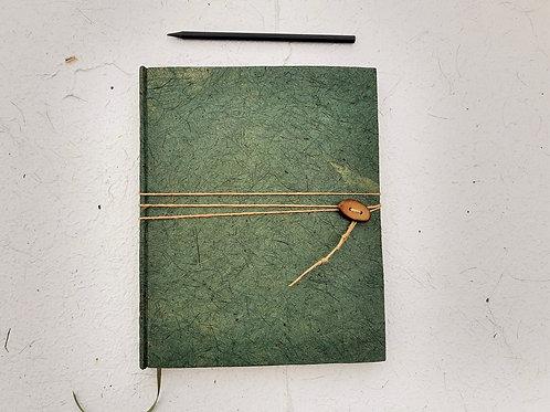 Caderno reciclado rústico cru - tamanho especial