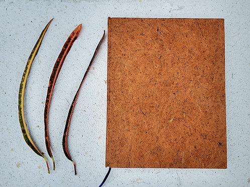 Caderno reciclado rústico - tamanho especial