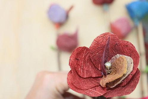 Flor de papel - Tons avermelhados