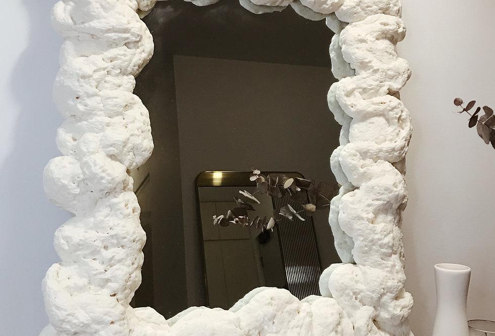 Large Puffy Mirror 01 — Bone
