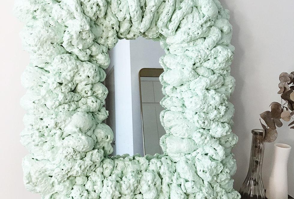 Large Puffy Mirror 02 — Seafoam Green