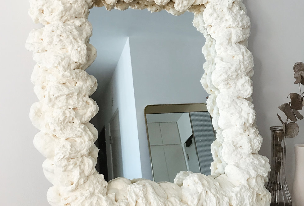 Large Puffy Mirror 02 — Bone