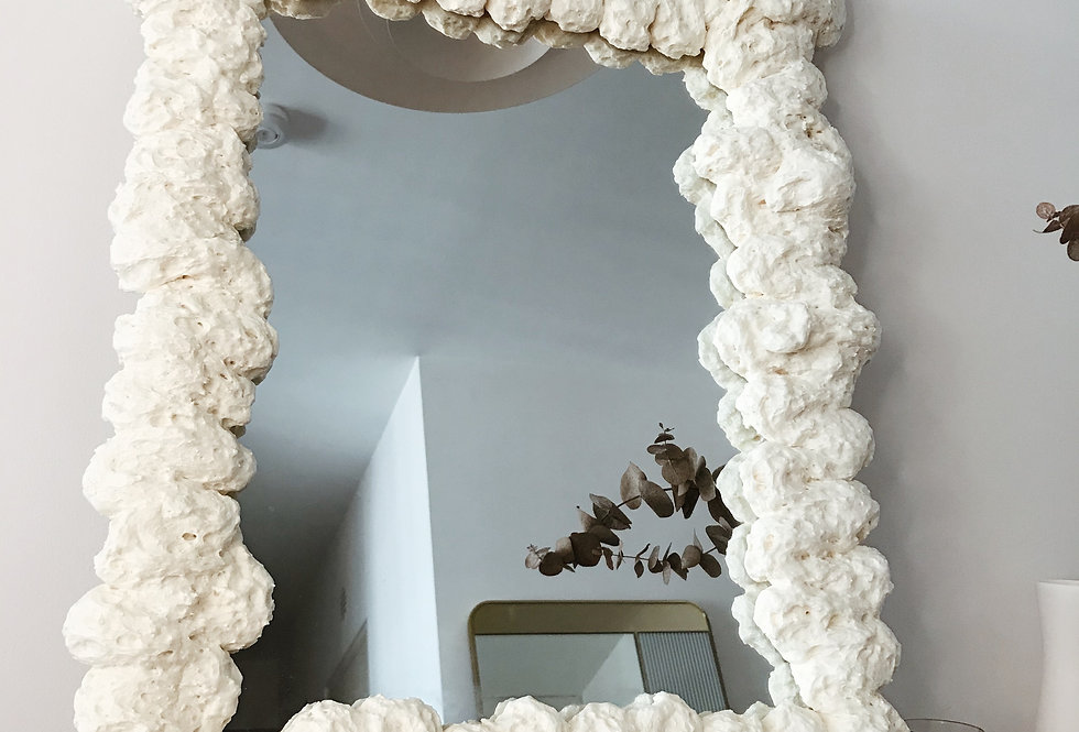 Large Puffy Mirror 03 — Bone