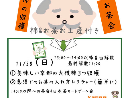 柿の収穫体験&日本茶の淹れ方レクチャーお茶会
