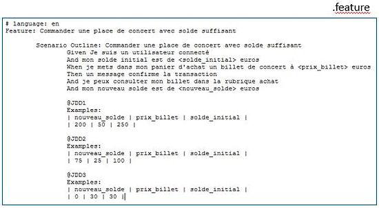Avec Squash, générez un fichier contenant les mots clés à implémenter dans un scénario par l'automaticien ou développeur