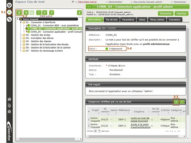 Les cas de test dans Squash Test Management sont reliés aux User Stories Jira pour garantir la couverture des exigences