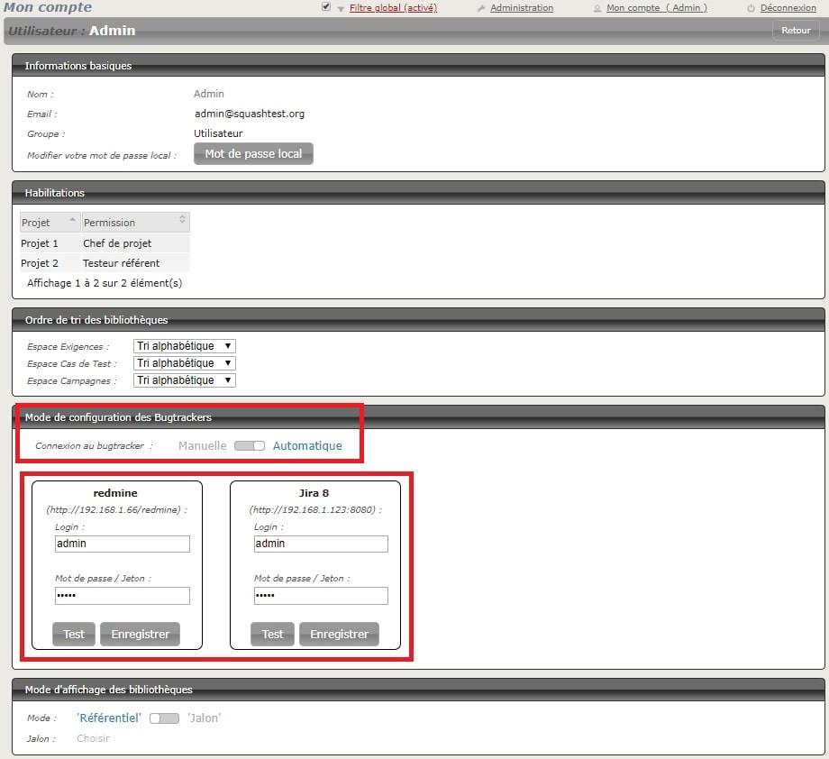 Squash 1.20 peut enregistrer vos identifiants de connexion aux bugtrackers automatiquement