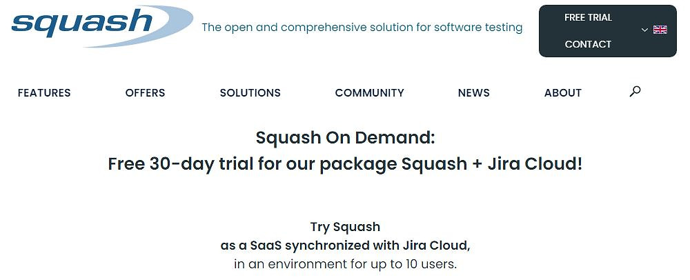 Squash On Demand allows you to test Squash and Jira Cloud for free for 30 days