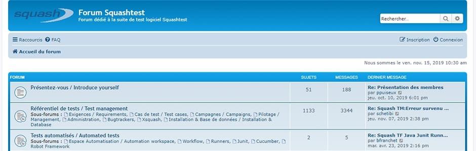 Les utilisateurs de la version open source Squash peuvent échanger autour des nouvelles fonctionnalités de la suite