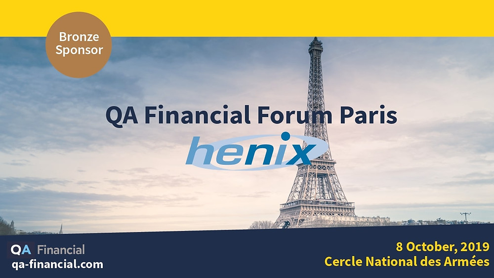 Henix, Bronze sponsor of the 1st edition of the QA Financial Forum in Paris, will present Squash on its booth on October 8th
