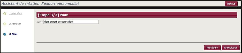 Avec l'assistant de création d'export personnalisé de Squash, donnez un nom personnalisé à vos rapports