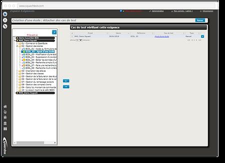 Avec Squash TM, notifiez les cas de test vérifiant des exigences en les liant avec ces mêmes exigences