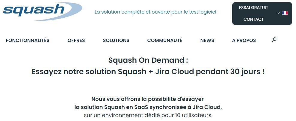 Squash On Demand vous permet de prendre en main Squash et Jira Cloud gratuitement pour une durée de 30 jours