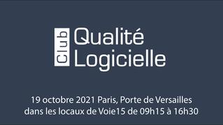 Club Qualité Logicielle : réservez votre date du mardi 19 octobre 2021 !