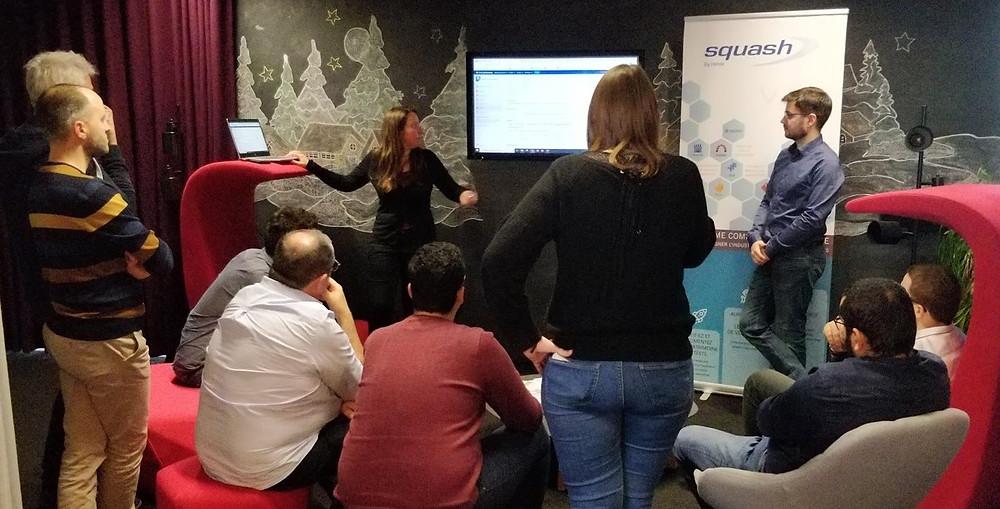 L'équipe Squash a présenté un cas d'usage en mode Agile et l'automatisation de tests lors d'un séminaire interne SNCF