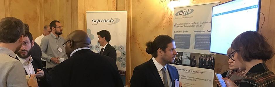 De nombreux échanges ont été permis lors du QA Financial Forum Paris, où l'équipe Squash était présente