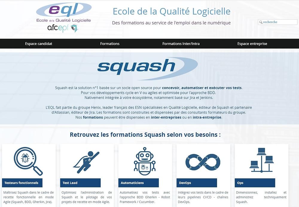Retrouvez le calendrier des formations Squash mettant en avant le test management et l'automatisation, l'Agile et le DevOps