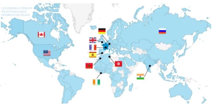 Squash, logiciel open source de gestion des tests logiciels, est utilisé en Europe, Amérique du Nord, Afrique et Asie