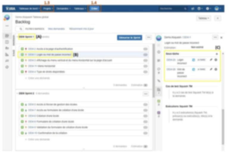 Comment créer dans Jira un backlog, des user stories et un sprint qui seront synchronisés dans Squash Test Management