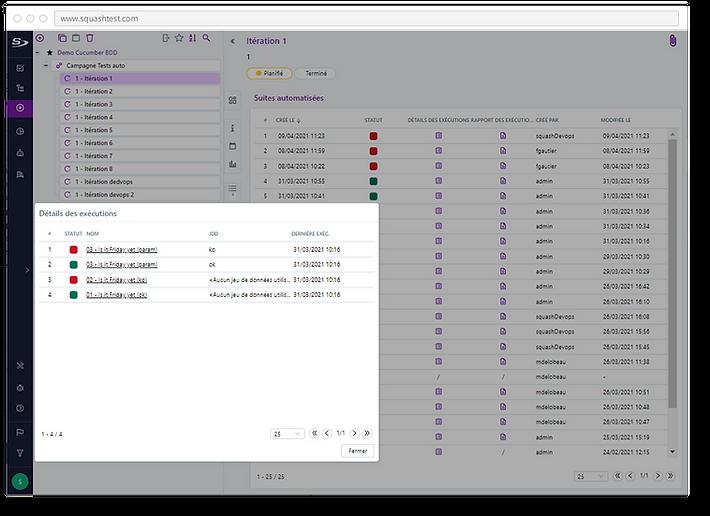 Gérez des plans d'exécution as code, fichiers décrivant les actions à automatiser lors de l'exécution de tests automatisés