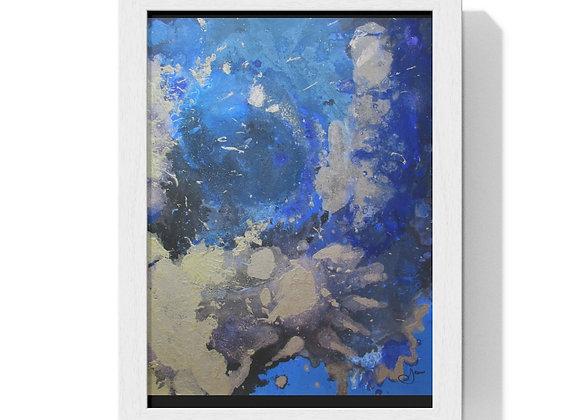 """""""Silver Tiger Nebula"""" Premium Framed Vertical Poster"""