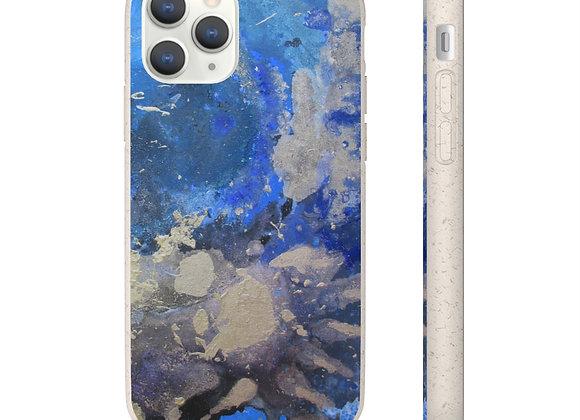 """Silver Tiger Nebula"" Biodegradable Case"