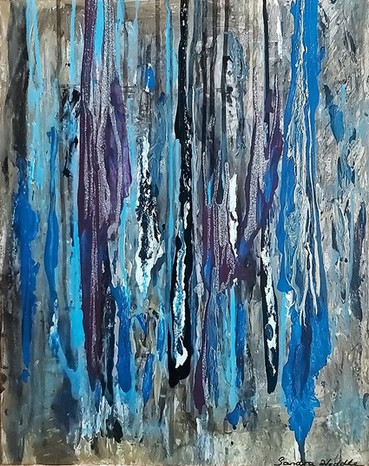 Blue Rainfall by Sandra Heddle