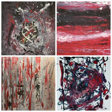 Collage of Sandra Heddle art