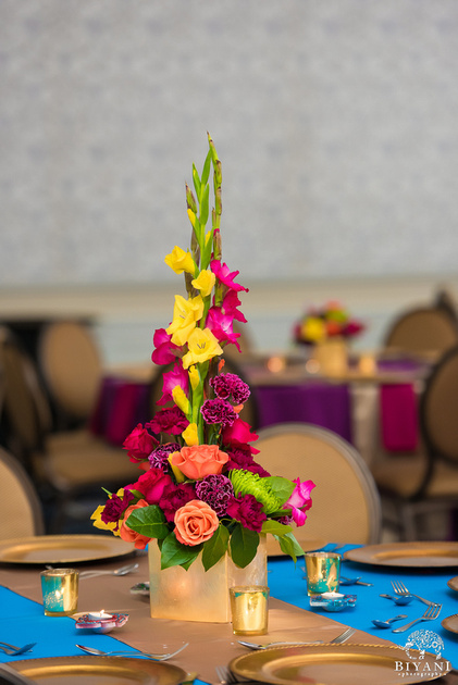 A Mexican themed centerpiece- DILSHAN Weddings & Events