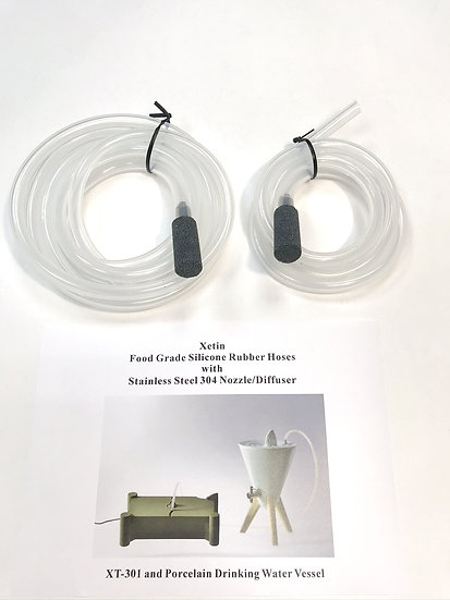 XT-301 Food Grade Silicone Hoses with Stainless Steel Nozzle and Diffuser Stone