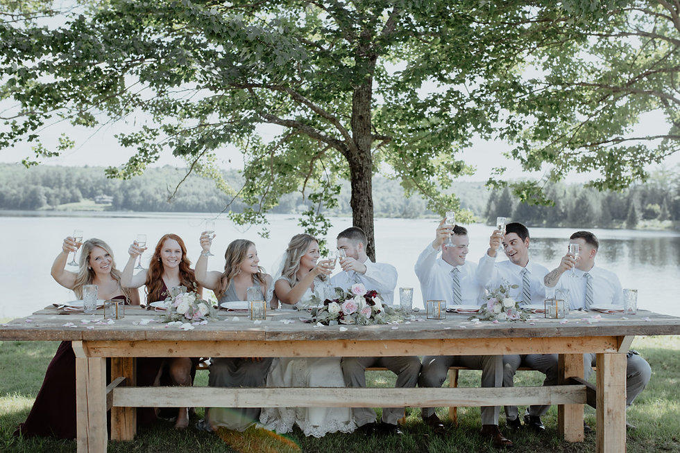 Waterfront Wedding Reception at Grace On The Lake in Harmony, Maine