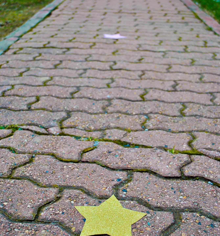 tante stelline per indicare la via