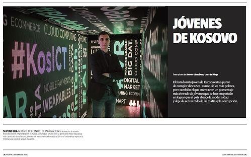 Jóvenes de Kosovo. Magazine de La Vanguardia