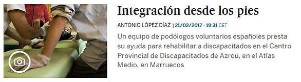 Integración desde los pies; Planeta Futuro, El País; Azrou,Marruecos; ONG felicidad sin fronteras; discapacitados; voluntarios.