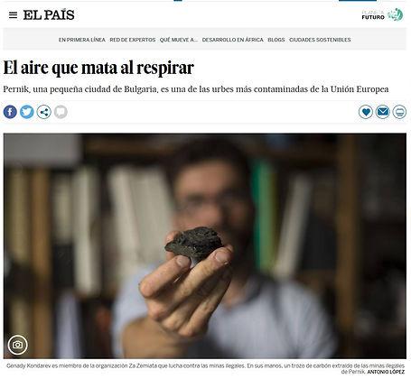 Pernik,el aire que mata al respirar. Planeta Futuro, El País