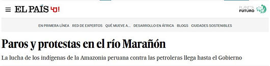 Cuninico, donde la selva se tiñe de negro; Planeta Futuro, El País; vertido petroleo; selva peruana; amazonia peruana; kukama kukamiria; cucama; oleoducto norperuano; petroperú