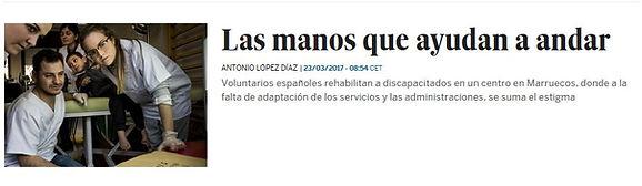 Las manos que ayudan a andar; Planeta Futuro, El País; Azrou,Marruecos; ONG felicidad sin fronteras; discapacitados; voluntarios.