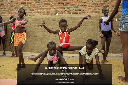 El equipo olímpico de gimnasia de Chad