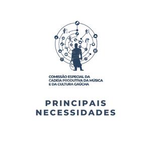 Principais necessidades das cadeias produtivas da música e da cultura