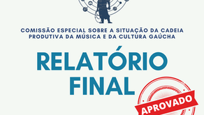 Plenário da Assembleia aprova relatório final da Comissão sobre a Música e a Cultura Gaúcha
