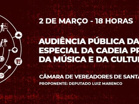 Audiência Pública sobre a Cadeia Produtiva da Música e da Cultura Gaúcha em Santa Maria