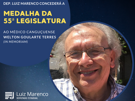 Deputado Luiz Marenco concede Medalha da 55ª Legislatura ao Dr. Welton Goularte Terres