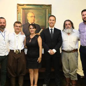 Deputado acompanha reunião do MTG com o presidente da AL